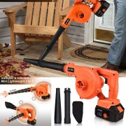 HI TEX 2-in-1 21V 4.0A Powerful Cordless Blower with Dust Suction Function