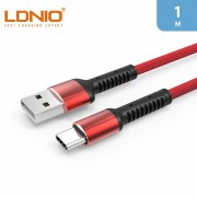 LDNIO 1m USB-A To Type-C Cable 2.4A - Red