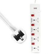 3M Power Extension with 4 Universal Sockets