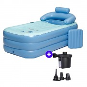 160cm Portable Inflatable Adult Bathtub + Electric Charging Air Pump