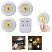 3Pcs Circular LED Light with Remote Control
