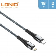 LDNIO 18W Type -C to Lightning Cable 2m