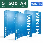 Winter 5 packs of 500 Sheets A4 Papers