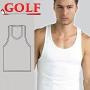 Set of 6 A-Shirts Round Neck for Men's by Golf