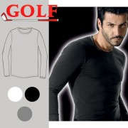 Set of 6 Colored Stretch Long Sleeves Round Neck for Men's by Golf