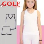 Set of 6 Shirts Sleeveless + 6 Pcs Shorts for Girls by Golf