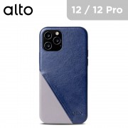 Alto Metro 360 Leather Case for iPhone 12 / 12Pro – Navy Blue