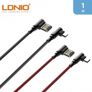 LDNIO 2.4A USB A to Type C Cable 1m 90 Degree For Gaming
