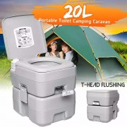 Portable Toilet Camping Travel Outdoor 5 Gallon 20L with Tent