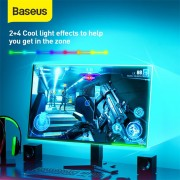 Baseus RGB Colorful Light Strip 1m Extension Pack – Black