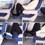 Adjustable Footrest Hammock with Inflatable Pillow Seat Cover