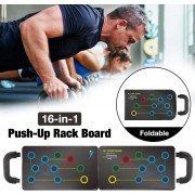 Portable 16-in-1 Training Push-Up Board for Indoor or Outdoor Training