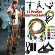 Latex Resistance Bands Workout Exercise Set - 11 Pcs