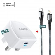 Anker PowerPort III Nano 20W Charger + LDNIO 18W Type-C to Lightning Cable 1m