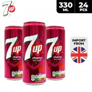 7Up Cherry Drink Can 24 x 330ml
