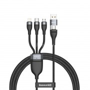 Baseus Flash Series Two-for-three Fast Charging 100W Data Cable 1.2m