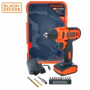 Black & Decker Powerful 1 AMP Wireless 12V Drill + 13 Kits + Case