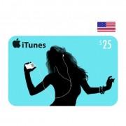 $25 Apple iTunes Card USA