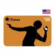 $100 Apple iTunes Card USA