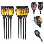 Pack of 6 Outdoor Garden Solar Flam Light