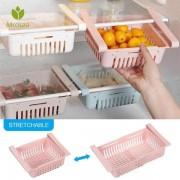 2Pcs Attachable Refrigerator Plastic Organizers (Assorted Colors)