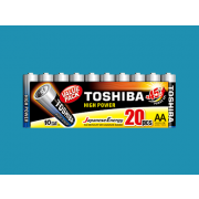 TOSHIBA Set of 20Pcs High Power AA Batteries