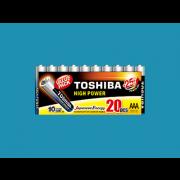 TOSHIBA Set of 20Pcs High Power AAA Batteries
