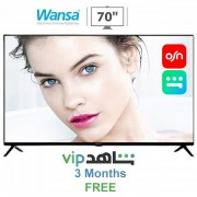 """WANSA 70"""" UHD Smart LED TV + Built-in OSN & Shahid Applications + FREE 3 Months Shahid Subscription (FREE Delivery)"""