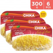 Chika Cooked Rice With Suffron Ready Meal 6 x 300 g
