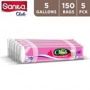 Sanita Club Trash Bag 5 Gallons (5 x 30 pieces)