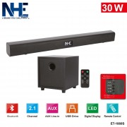 NHE 30W 2.1 Channel Wireless Bluetooth Soundbar + Subwoofer + Remote Control