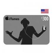 $300 Apple iTunes Digital Card USA