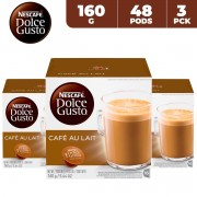 Nescafe Dolce Gusto Café Au Lait 160 g (3 x 16 capsules)