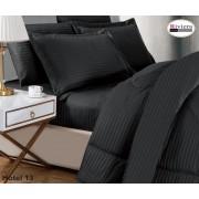 Riviera 6Pcs King Size Hotel Comforter Set 260 x 240cm  - Black