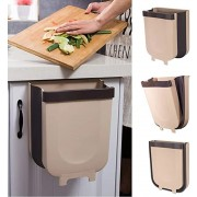 Hanging Folding Trash Can Bin for Kitchen Cabinet Door