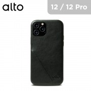 Alto Metro 360 Italian Leather Case for iPhone 12 / 12 Pro - Raven Black