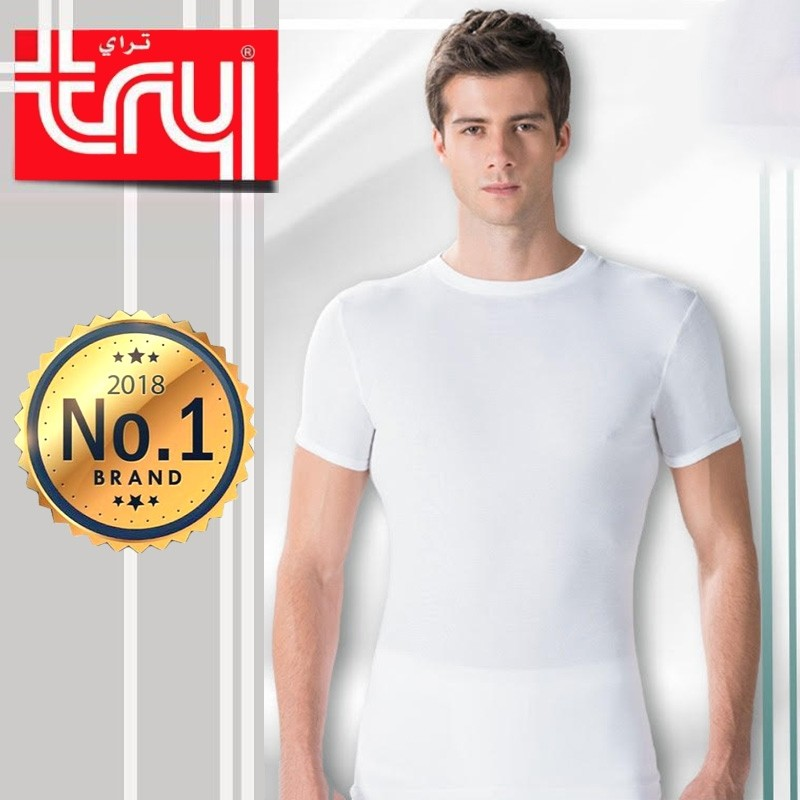 Set of 6 Shirts O-Neck Half Sleeve for Men by Try (FREE Delivery)