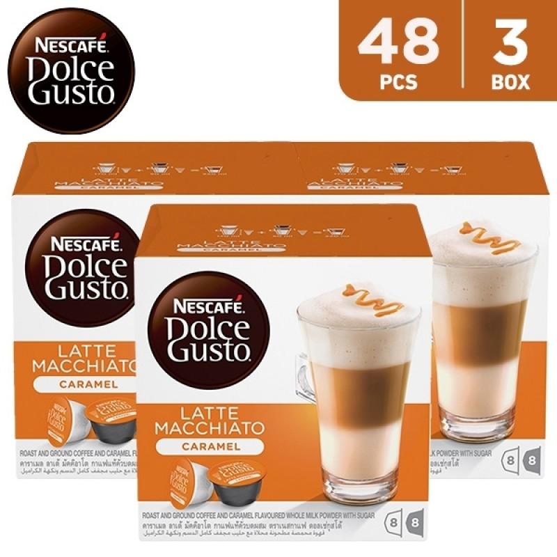 Nescafe Dolce Gusto Caramel Latte Macchiato 168.8 g (3 x 16 capsules)