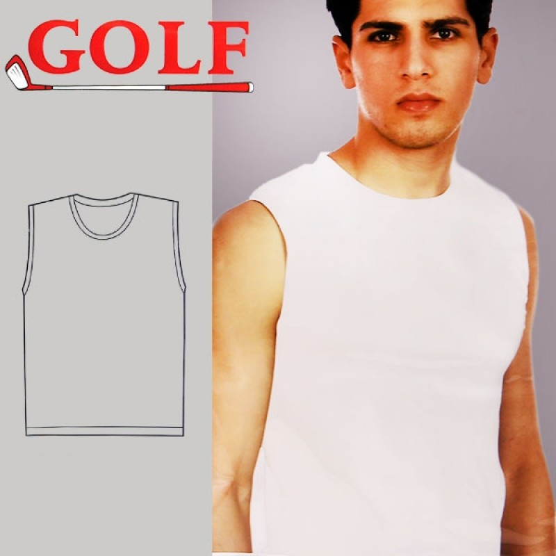 Set of 6 Sleeveless Round Neck for Men's by Golf