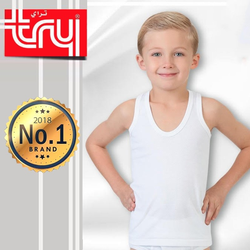 Set of 6 Shirts Sleeveless V-Neck for Boys by Try (FREE Delivery)
