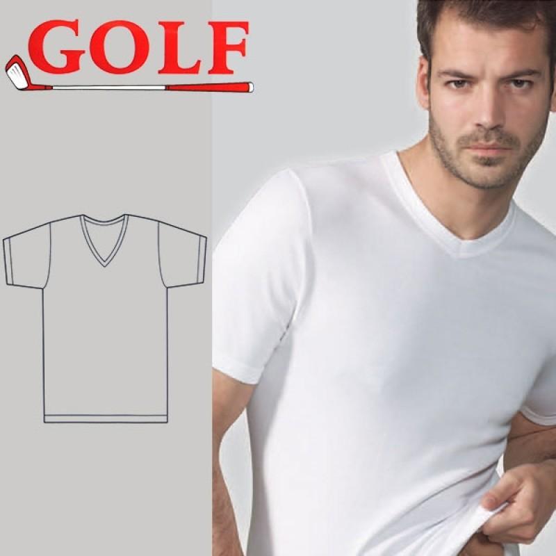 Set of 6 Half T-Shirt V Neck for Men's by Golf
