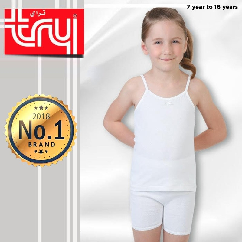 Set of 6 Shirts Sleek Sleeveless + 6Pcs Shorts for Girls by Try (FREE Delivery)