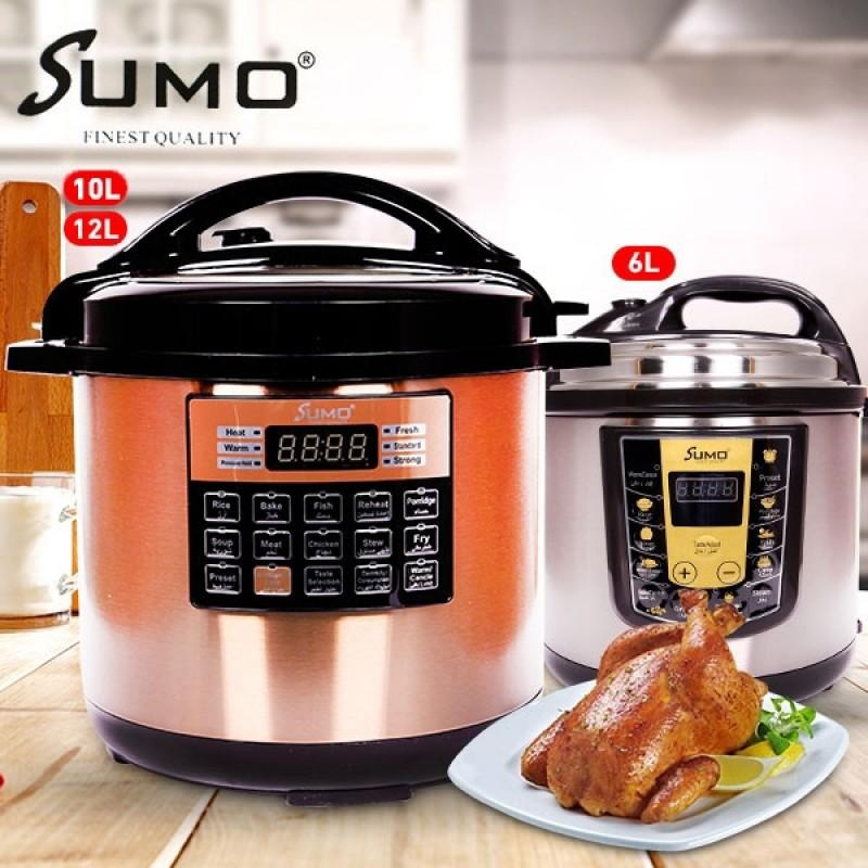 Sumo Digital Electric Pressure Cooker 6, 10 or 12 Liter