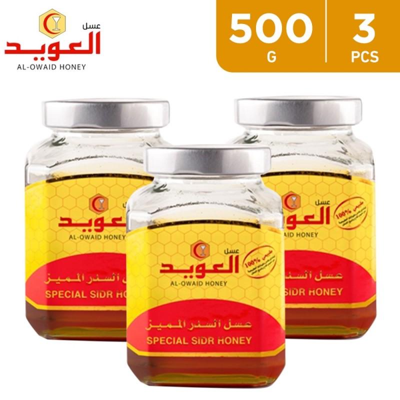 Special Sedr Honey 3 x 500 g From Al Owaid Honey