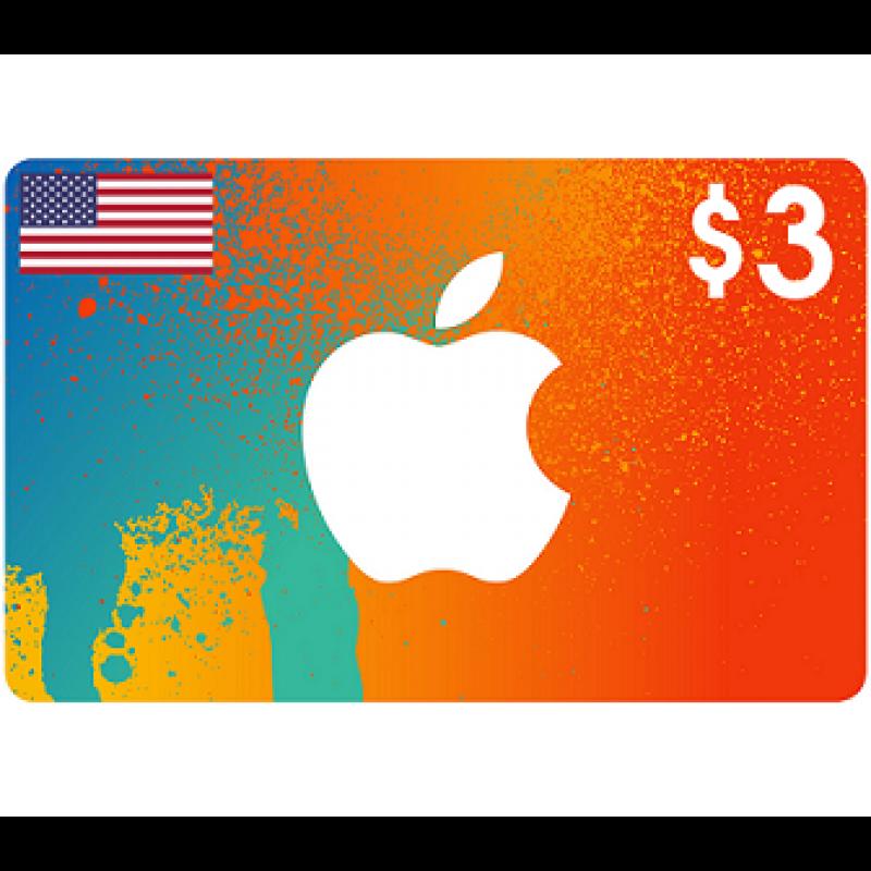 $3 Apple iTunes Card USA