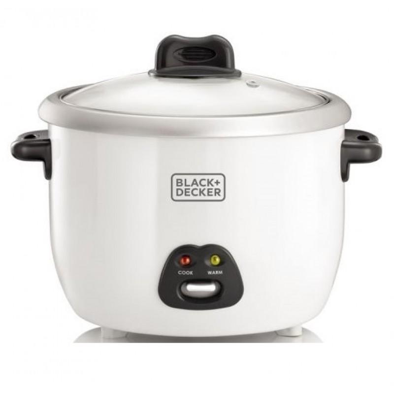 Black & Decker Rice Cooker & Steamer 1.8 L 700 w - White