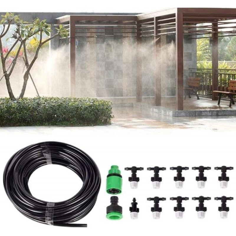 10M 9 Nozzles Patio Mist Cooling System