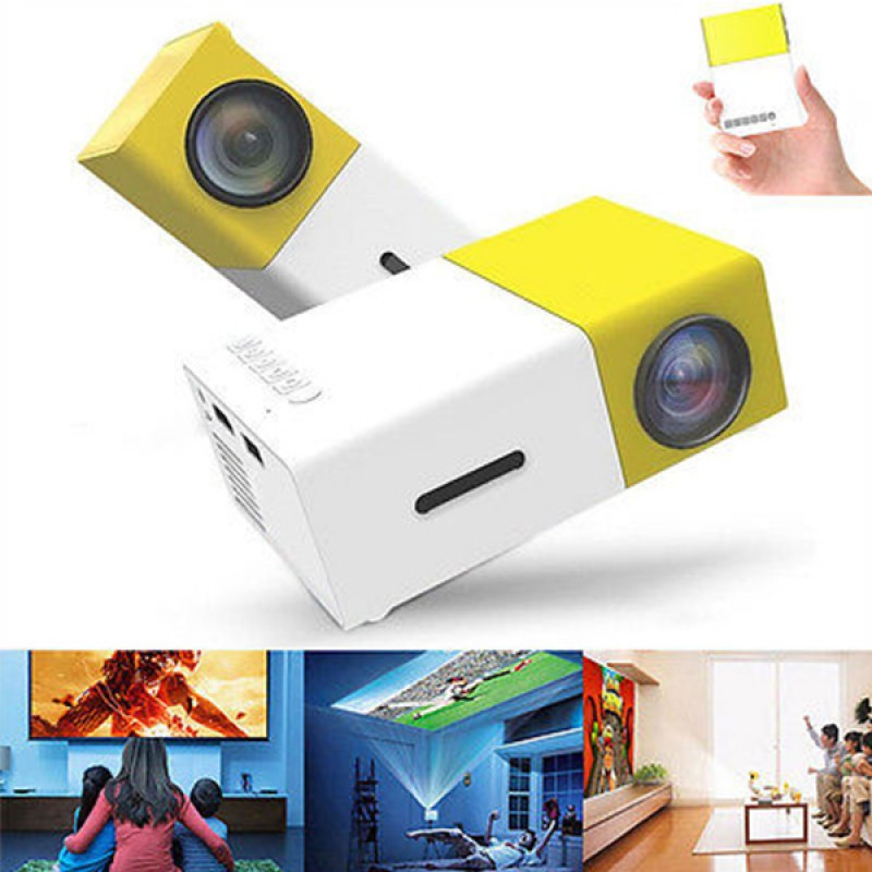Portable LED Cinema Theater Projector with HDMI & USB Ports