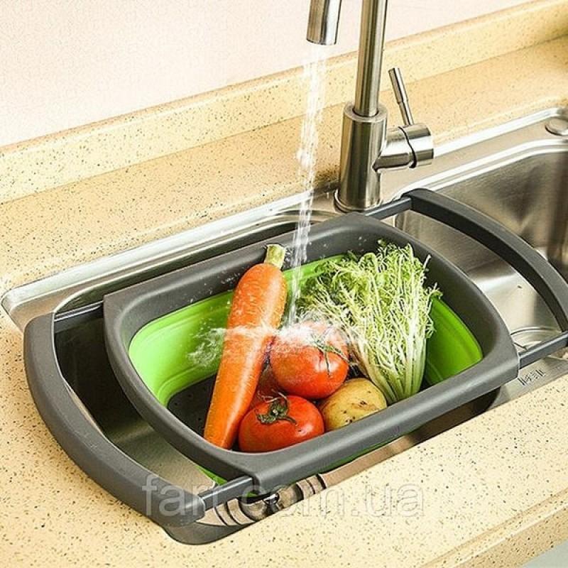 Foldable Flexible Washing & Rinsing Basket (Random Colors)