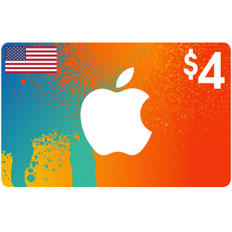 $4 Apple iTunes Card USA